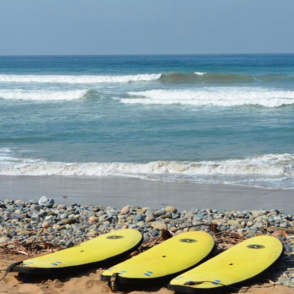 Yellow surfboards