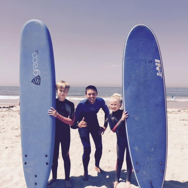 Surf Lessons with kids Santa Barbara - Cal Coast Adventures
