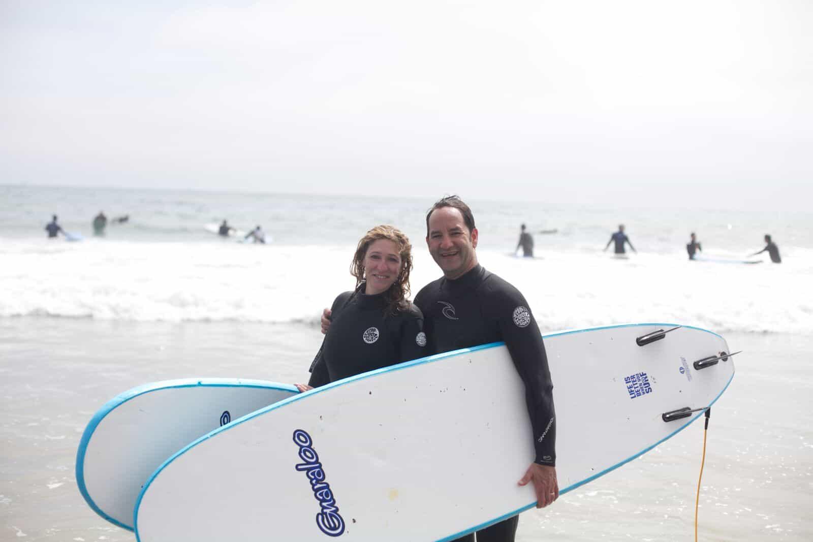 Surf Lessons in Santa Barbara 2 people - Cal Coast Adventures