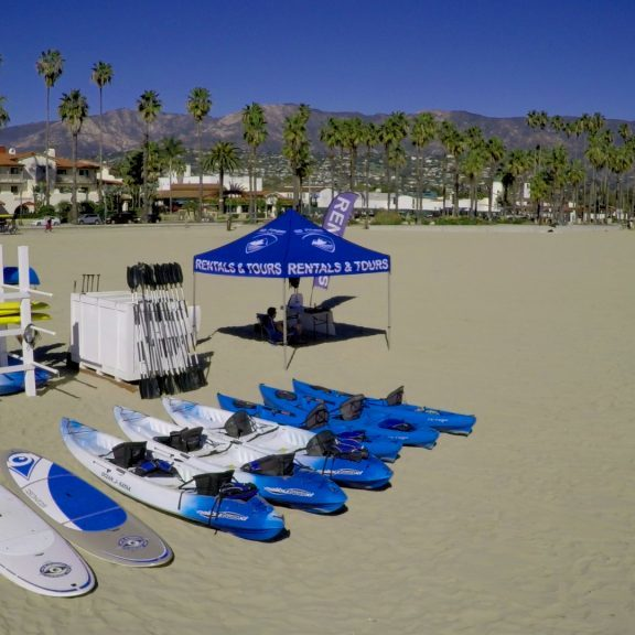 Water Rentals in Santa Barbara. Kayak and SUP directly from West Beach