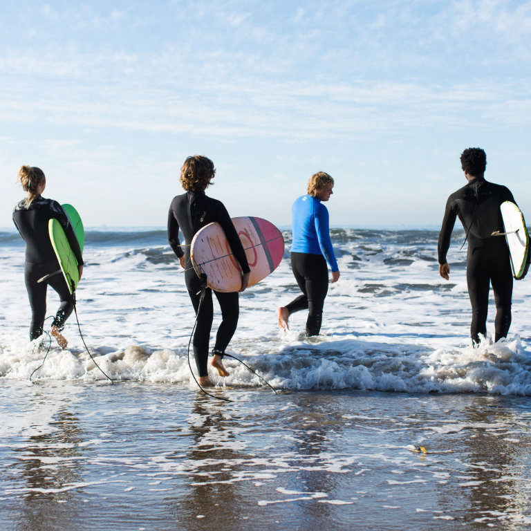 santa barbara group surf lesson