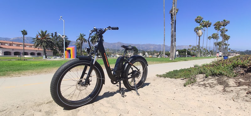 electric bike tour on the beach