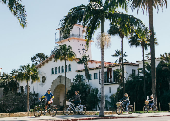 Santa Barbara City Bike Tour with Views of the American Riviera and Landmarks