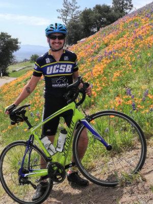 connor bike tour guide with mustache