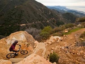 Downhill Epic View Mountain Bike Tour Santa Barbara