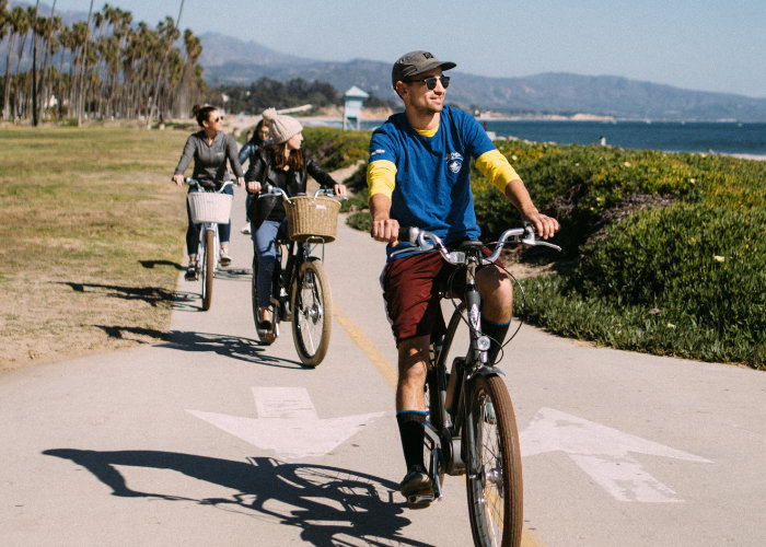 Santa Barbara Electric Bike Tour with Views of East Beach and Islands