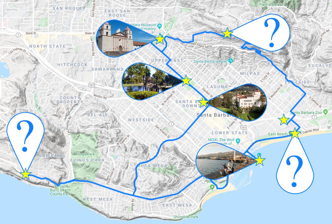 photo tour itinerary santa barbara